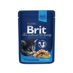 Brit Premium Cat Chicken Chunks for Kitten alutasakos 100g