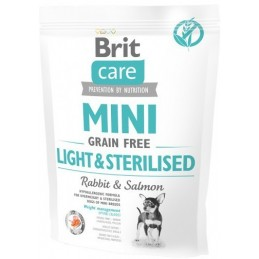 Brit Care Mini Grain-Free Light & Sterilised Rabbit & Salmon 400g
