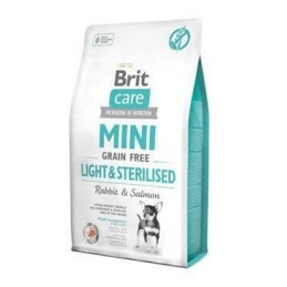 Brit Care Mini Grain-Free Light & Sterilised Rabbit & Salmon 2kg