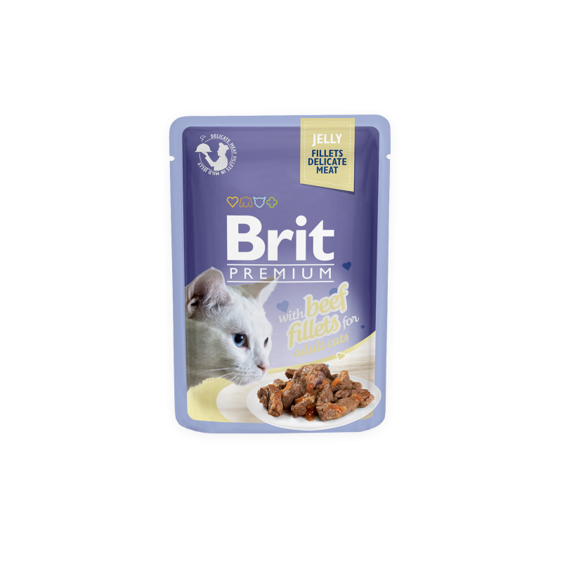 Brit Premium Cat Beef Fillets in Jelly alutasakos 85g