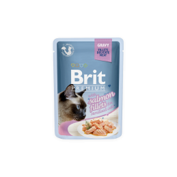 Brit Premium Cat Salmon Fillets in Gravy for Sterilised alutasakos 85g